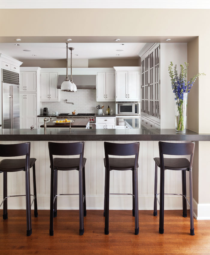"BEAUTIFUL ""CRYSTAL CABINETRY"" MODERN FARMHOUSE WHITE WOOD KITCHEN, ISLAND WITH STAINLESS STEEL APPLIANCES"