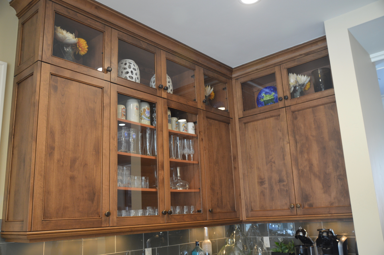SOLD! HIGH-END KNOTTY ALDER WOOD KITCHEN CABINETS,ISLAND ...